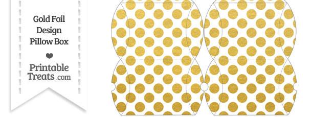 Small Gold Foil Dots Pillow Box