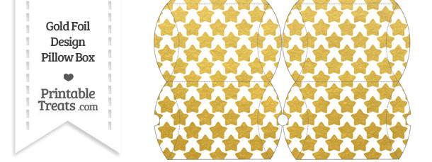 Small Gold Foil Stars Pillow Box