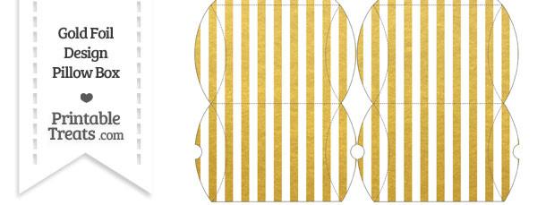 Small Gold Foil Stripes Pillow Box