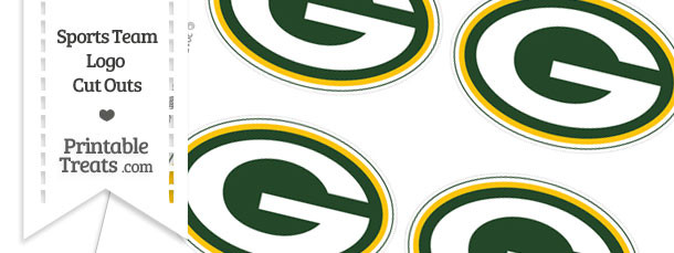 Small Green Bay Packers Logo Cut Outs