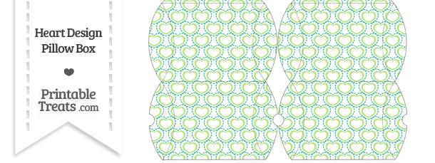 Small Green Heart Design Pillow Box