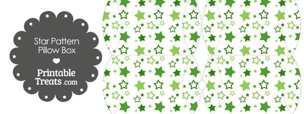 Small Green Star Pattern Pillow Box