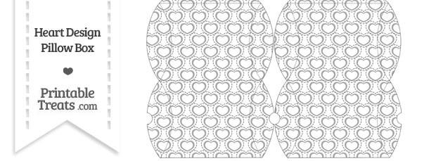 Small Grey Heart Design Pillow Box