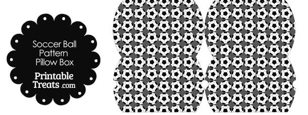 Small Grey Soccer Ball Pattern Pillow Box