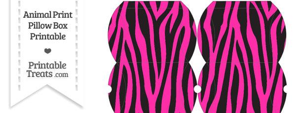 Small Hot Pink Zebra Print Pillow Box