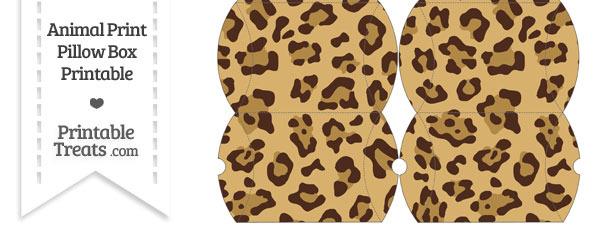 Small Jaguar Print Pillow Box