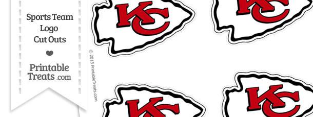 Small Kansas City Chiefs Logo Cut Outs