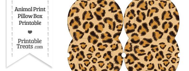 Small Leopard Print Pillow Box