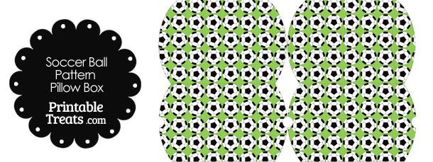 Small Light Green Soccer Ball Pattern Pillow Box