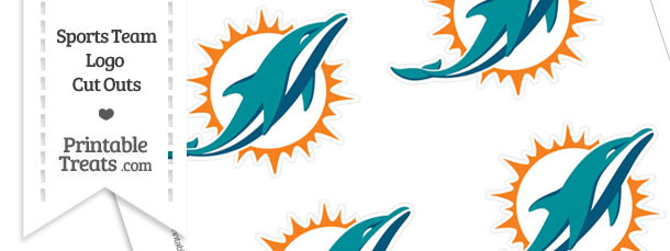 Small Miami Dolphins Logo Cut Outs