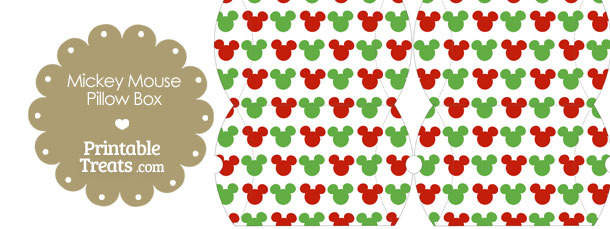 Small Mickey Mouse Christmas Pillow Box