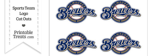 Small Milwaukee Brewers Logo Cut Outs