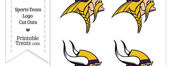 Small Minnesota Vikings Logo Cut Outs