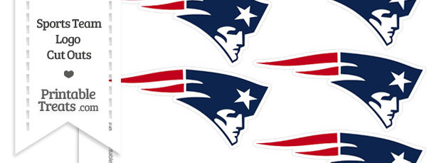 Small New England Patriots Logo Cut Outs