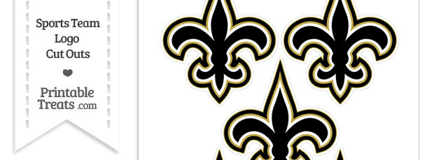 Small New Orleans Saints Logo Cut Outs