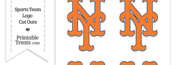 Small New York Mets Logo Cut Outs