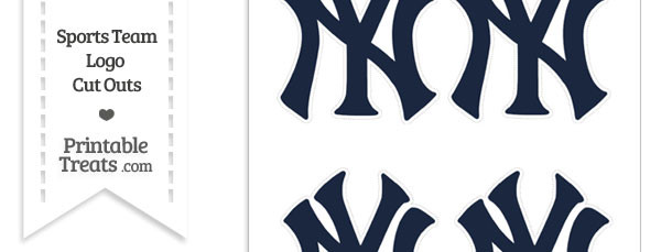 Small New York Yankees Logo Cut Outs
