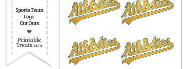 Small Oakland Athletics Logo Cut Outs