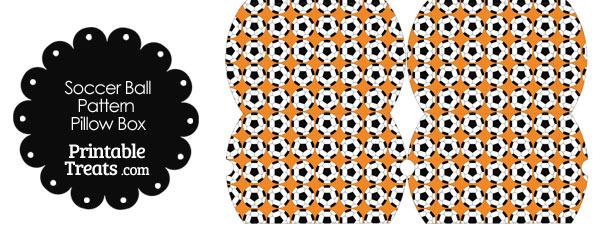 Small Orange Soccer Ball Pattern Pillow Box