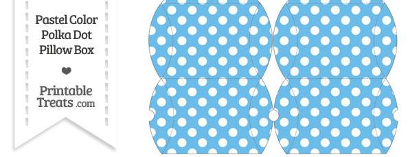 Small Pastel Blue Polka Dot Pillow Box