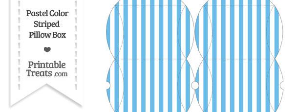 Small Pastel Blue Striped Pillow Box