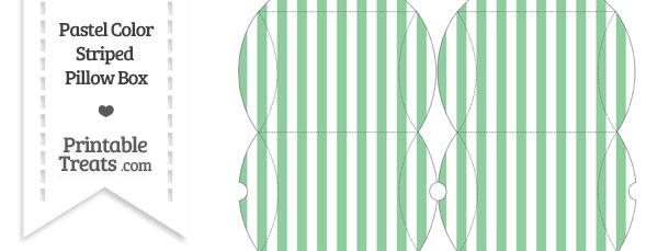 Small Pastel Green Striped Pillow Box