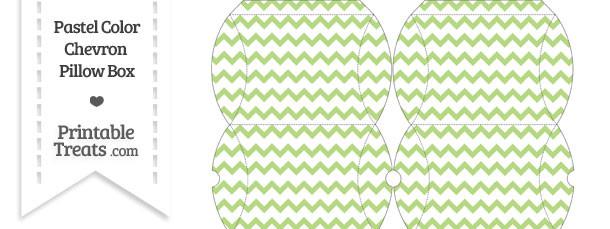 Small Pastel Light Green Chevron Pillow Box