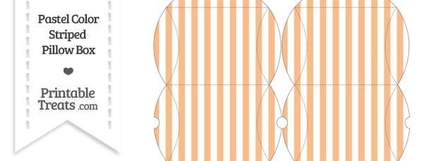 Pastel Orange Striped Pillow Box