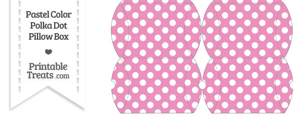 Small Pastel Pink Polka Dot Pillow Box