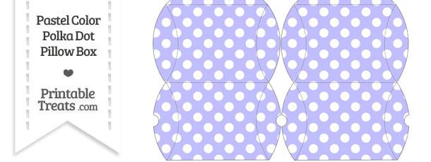 Small Pastel Purple Polka Dot Pillow Box