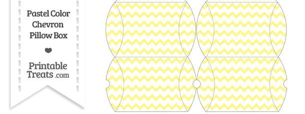 Small Pastel Yellow Chevron Pillow Box