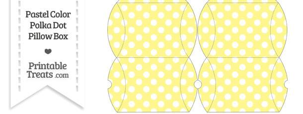 Small Pastel Yellow Polka Dot Pillow Box
