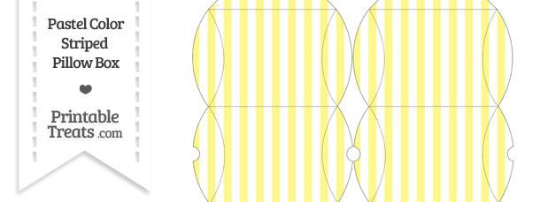 Small Pastel Yellow Striped Pillow Box