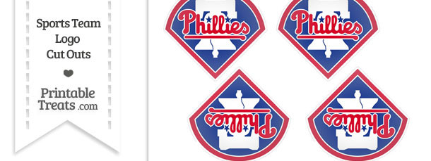 Small Philadelphia Phillies Logo Cut Outs