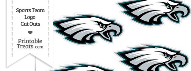 Small Philadelphia Eagles Logo Cut Outs