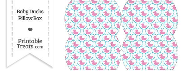 Small Pink Baby Ducks Pillow Box