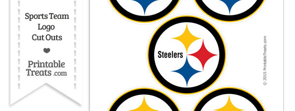 Small Pittsburgh Steelers Logo Cut Outs