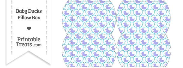 Small Purple Baby Ducks Pillow Box
