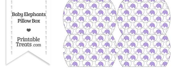 Small Purple Baby Elephants Pillow Box