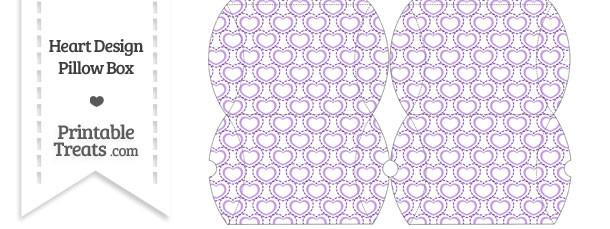 Small Purple Heart Design Pillow Box