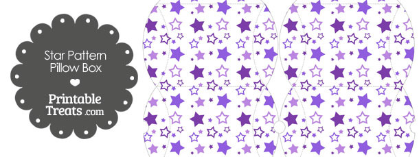 Small Purple Star Pattern Pillow Box