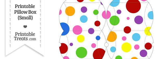 Small Rainbow Dots Pillow Box