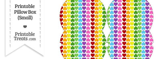Small Rainbow Hearts Pillow Box