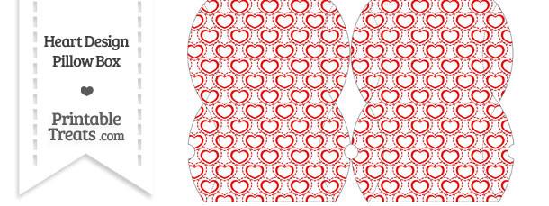 Small Red Heart Design Pillow Box