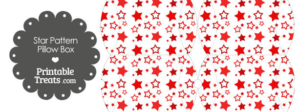 Small Red Star Pattern Pillow Box