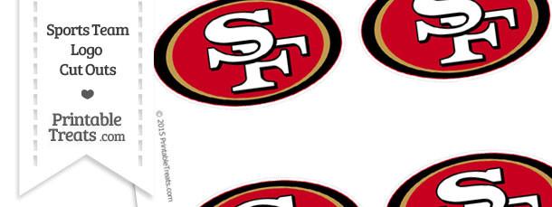 Small San Francisco 49ers Logo Cut Outs