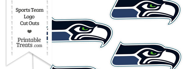 Small Seattle Seahawks Logo Cut Outs