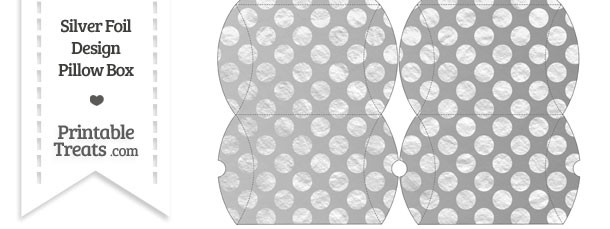 Small Silver Foil Dots Pillow Box