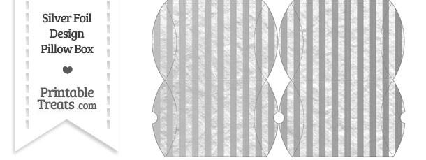 Small Silver Foil Stripes Pillow Box