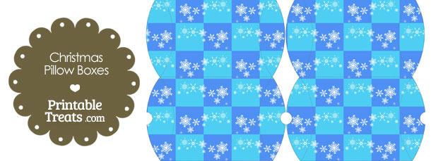 Small Snowflake Checkered Pillow Box